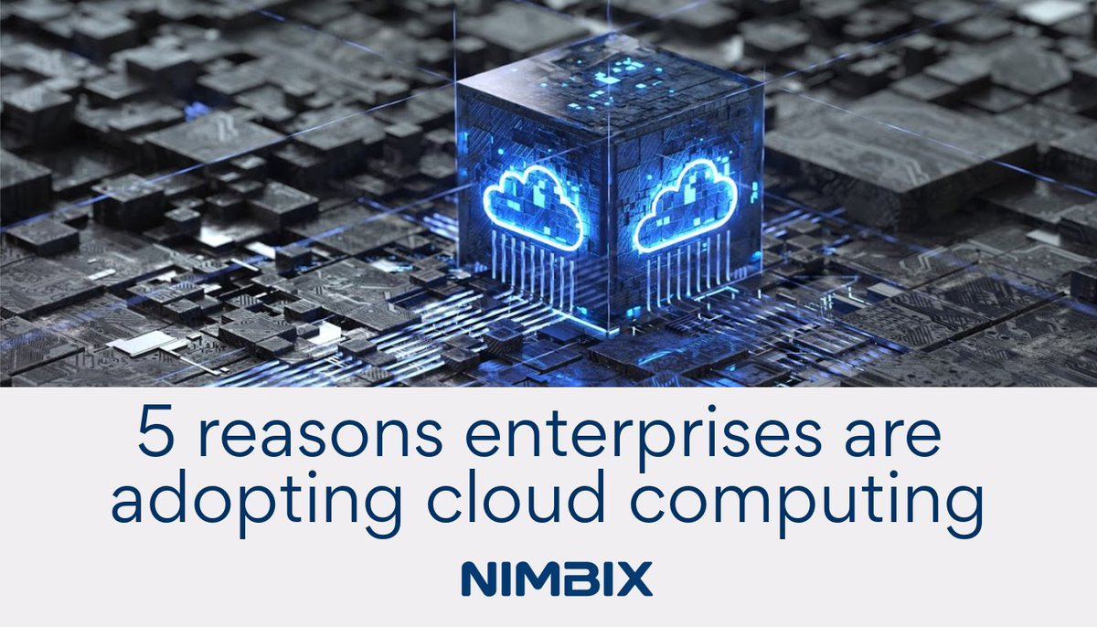 Why are enterprises adopting #cloud #computing?  Check out the top 5 reasons here. https://t.co/qyUobgumny   #simulation #AI #machinelearning #hpc https://t.co/NwRLmGwPL2
