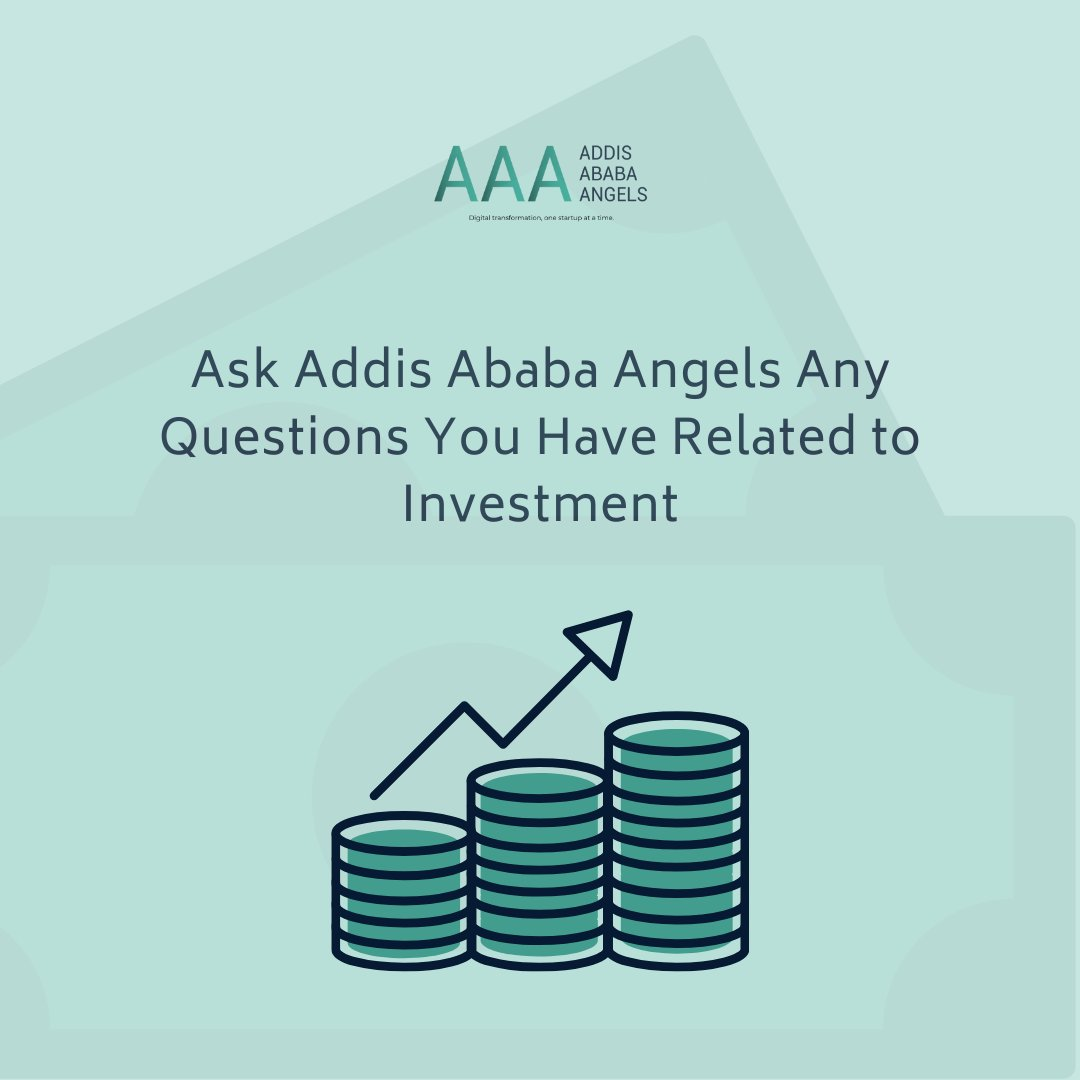 AAA will be replying to any questions that you may have related to investment whether general or directed to the angels. You can DM us or post them on the comment section. #AAA #AddisAbabaAngels https://t.co/Hd1jyxT2Sy