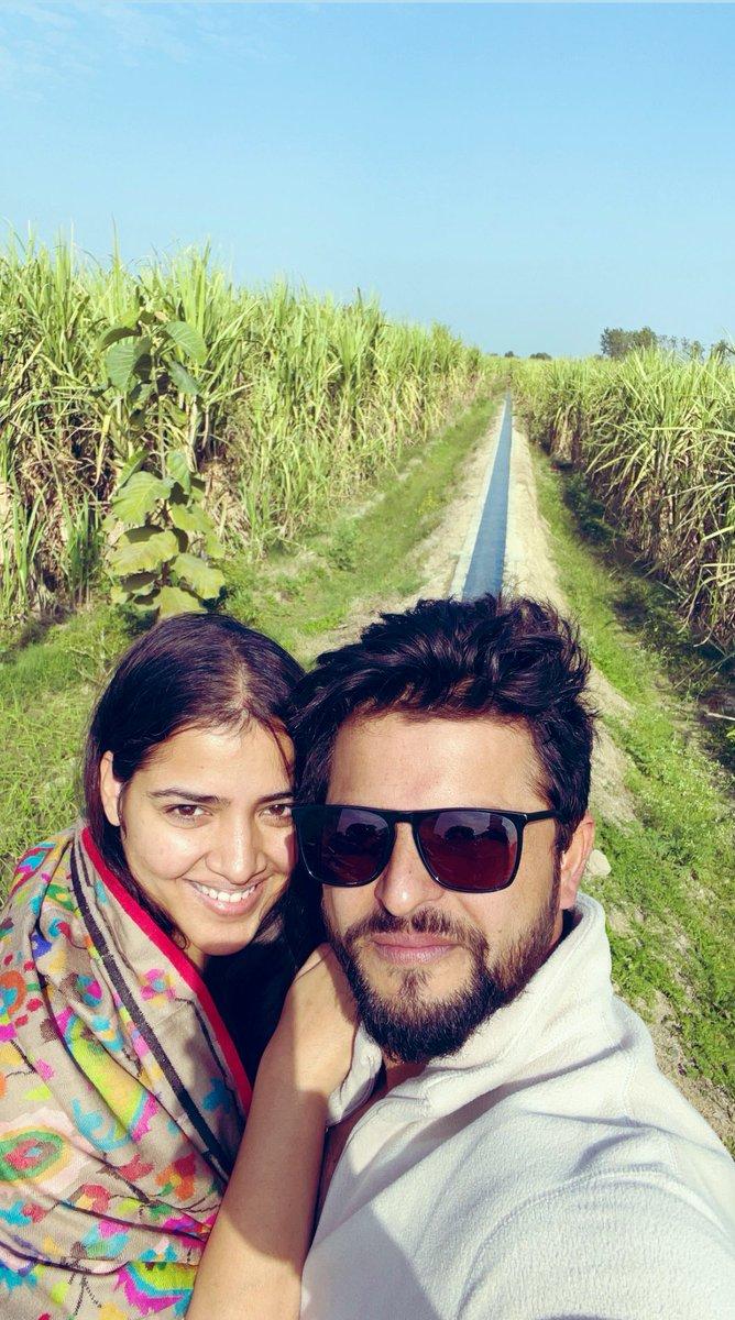 What a beautiful trip we had at the farms today with Ganna, gur, Makhan, mattha & makke ki roti. #UttarPradesh @PriyankaCRaina