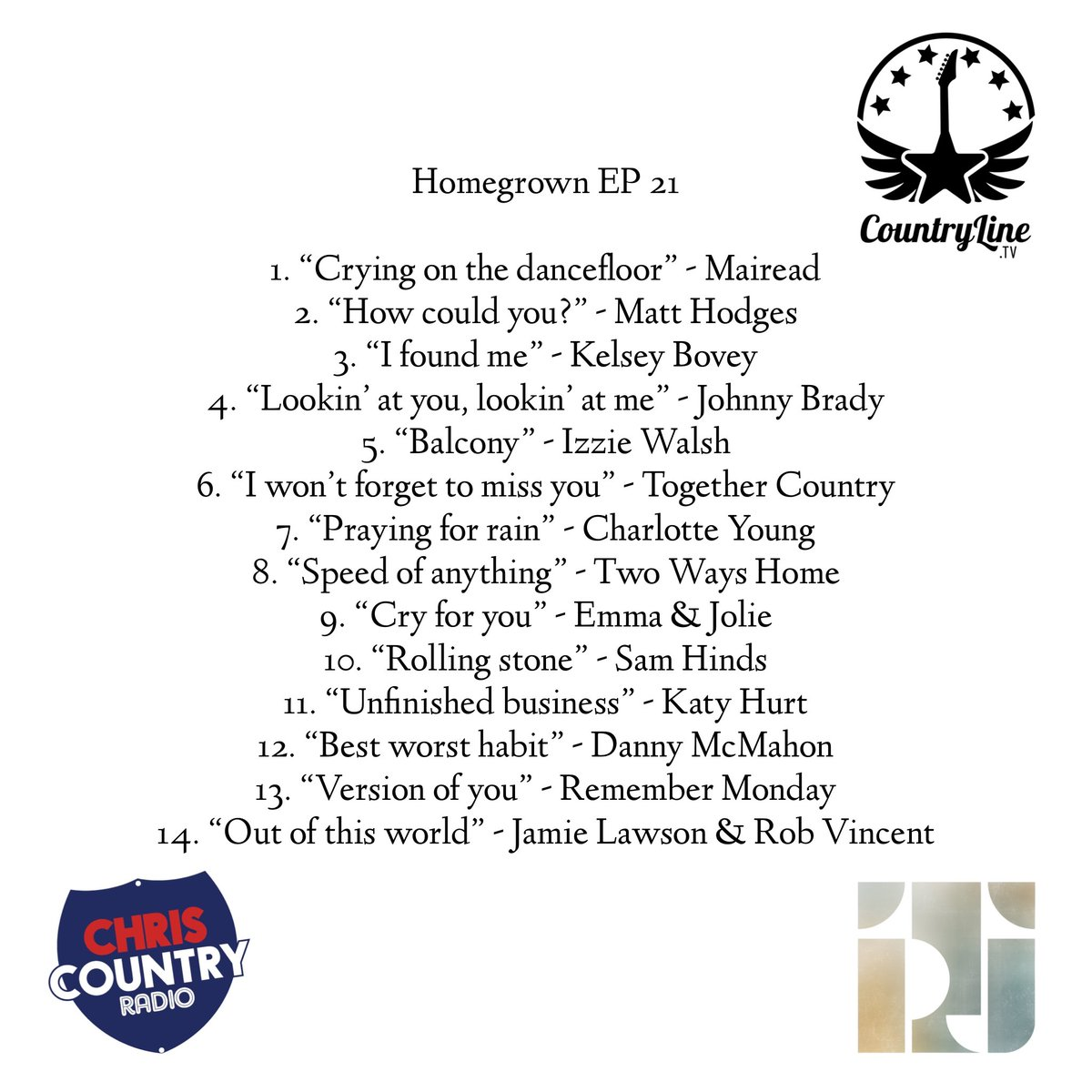 """Coming up on tomorrow's episode of """"Homegrown"""" @chriscountry, we have brand new music from @jamielawsonuk & @RobVincentMusic plus the latest releases from @IzzieWalsh, @kelseyboveyuk & a brilliant new track from @UkHinds. All of this & so much more! #country #radio"""