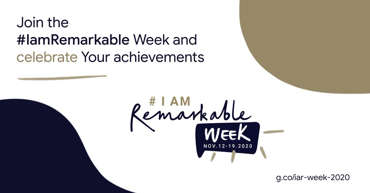Join the #IamRemarkable Week and celebrate Your achievements → https://t.co/vGvBafOLkp. https://t.co/SNyxvdUBHx