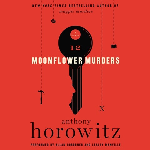 "Today's #AudiobookReview ""narrators Lesley Manville & Allan Corduner deliver pleasures galore"" in the 2nd book-w/in-a-book #MagpieMurders series from @AnthonyHorowitz @HarperAudio"