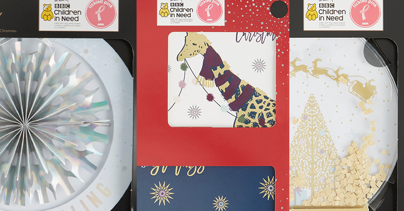 🎄 Christmas may be very different this year, but that shouldn't stop you sending festive cards to your loved ones.  Purchase an @Asda Christmas card to help support #AsdaTickledPink and #BBCChildrenInNeed.