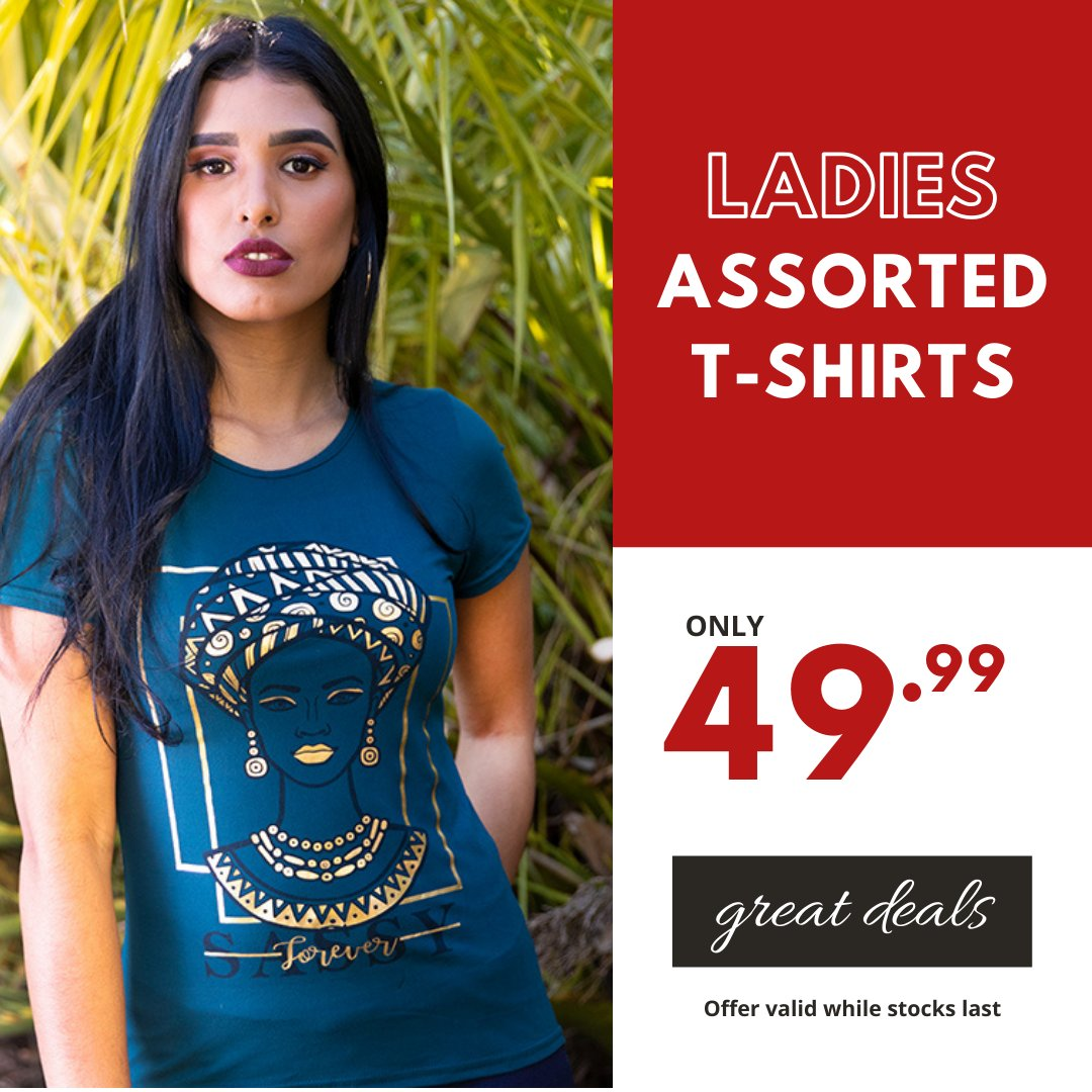 We've got you covered this summer with amazing prices... Ladies Printed T-Shirts only 49.99 A range of prints to suit your everyday needs. #choiceclothing #wearchoice #ladies #ladiestees