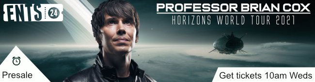 PRESALE // Having set two Guinness World Records with his previous sell-out World Tour, @ProfBrianCox is back with a brand-new arena show for 2021. Get your tickets 48 hours early from 10am Wednesday 18th November >> https://t.co/JutCbUizWT https://t.co/Q0XAZxoTgI