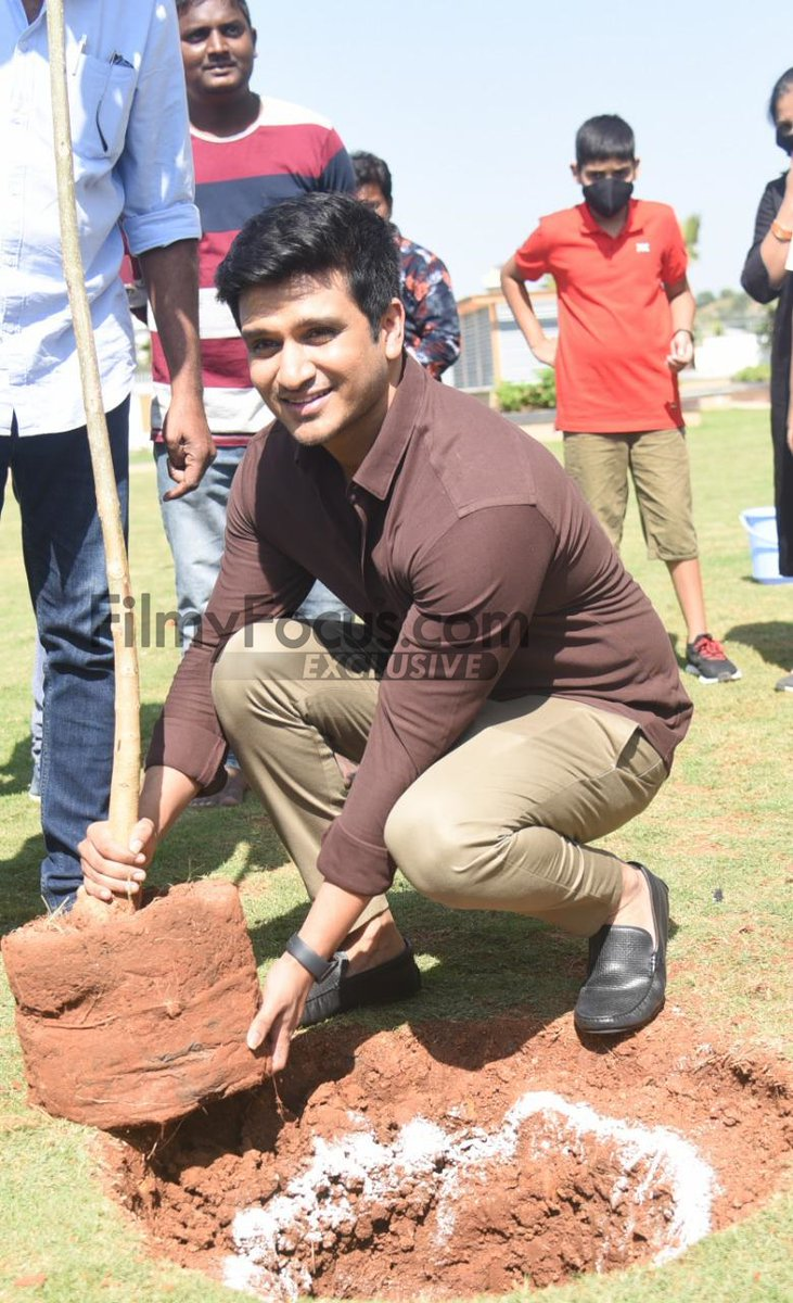 Young Hero @actor_Nikhil accepted #HaraHaiTohBharaHai #GreenindiaChallenge from @Rajaraveendar & Planted 3 saplings.  Further nominated #18pages entire team @anupamahere #avikagor @swati_colors to plant 3 trees & continue the chain.  Thanked @MPsantoshtrs for taking this intiate