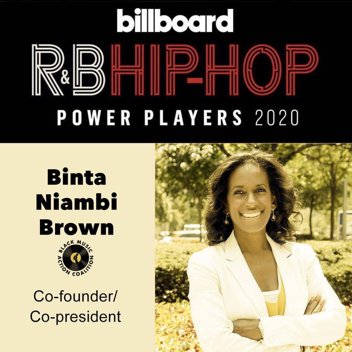 Thanks @billboard for recognizing the work of the Black Music Action Coalition! So much more work to be done! #BlackMusicMatters #BlackLivesMatter