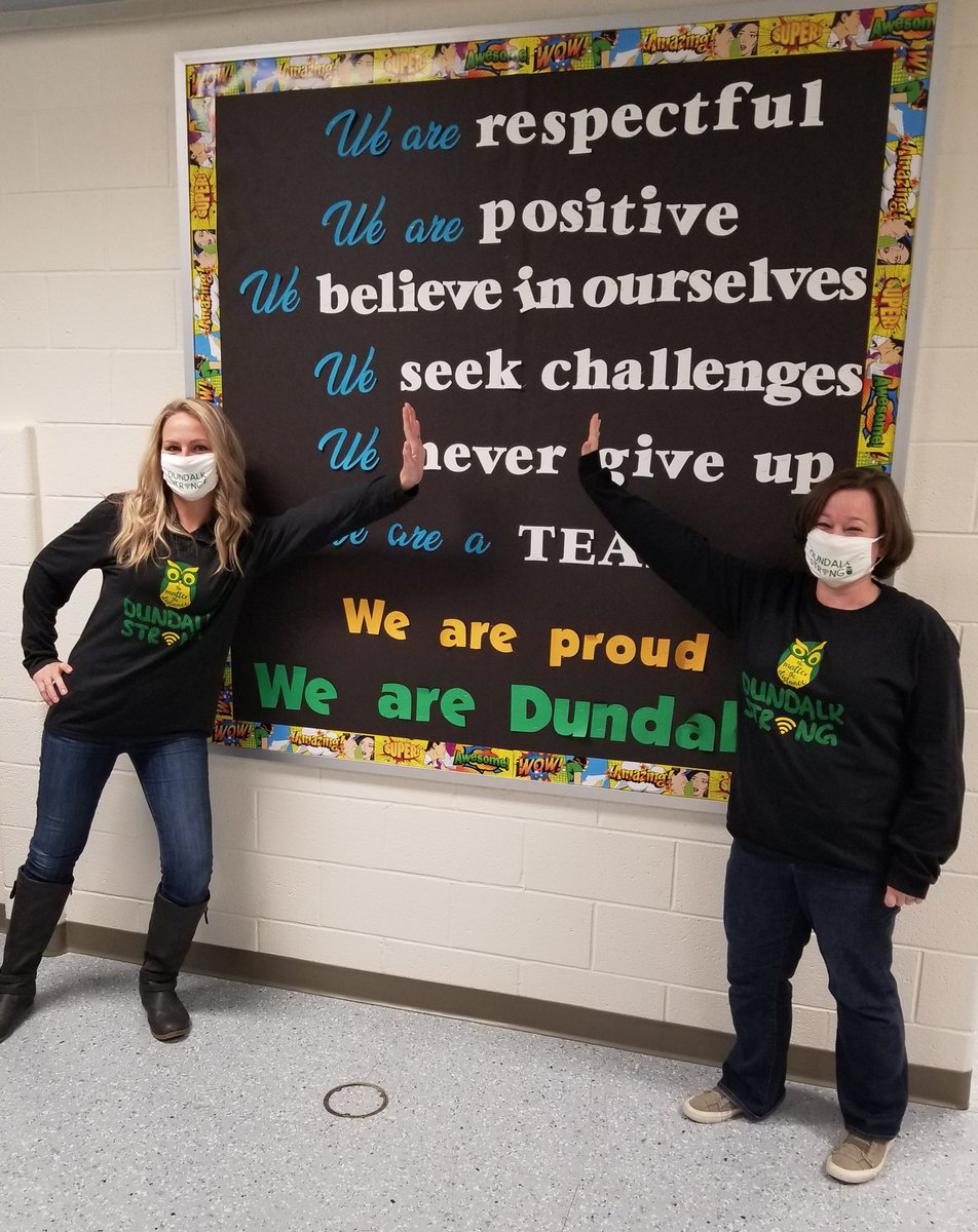 AP BFFs. I'm so lucky to have you as my partner in crime. @TeamDundalkES #DundalkStrong @JenPilarski