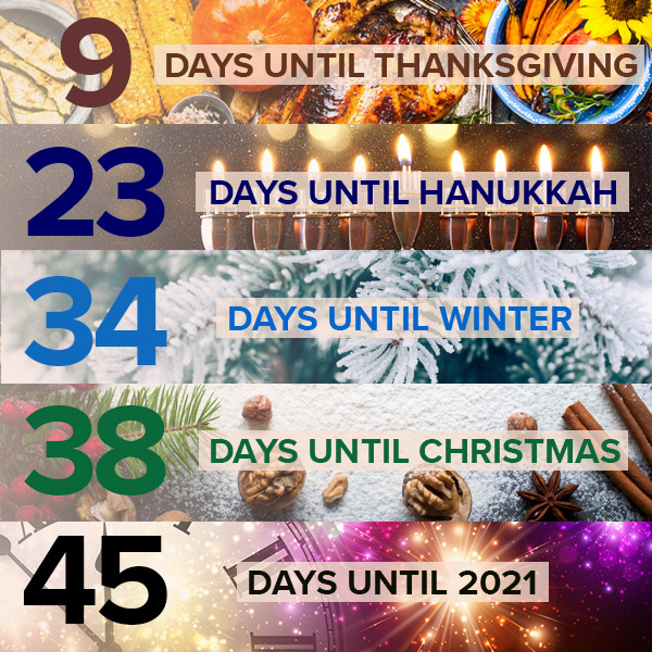 Are you ready for the holiday season? 🦃🎅🎉🕯️☃️