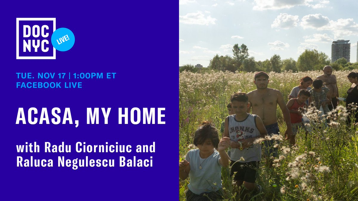 1 pm ET: hear a discussion of ACASA, MY HOME, playing in #DOCNYC's Winner's Circle