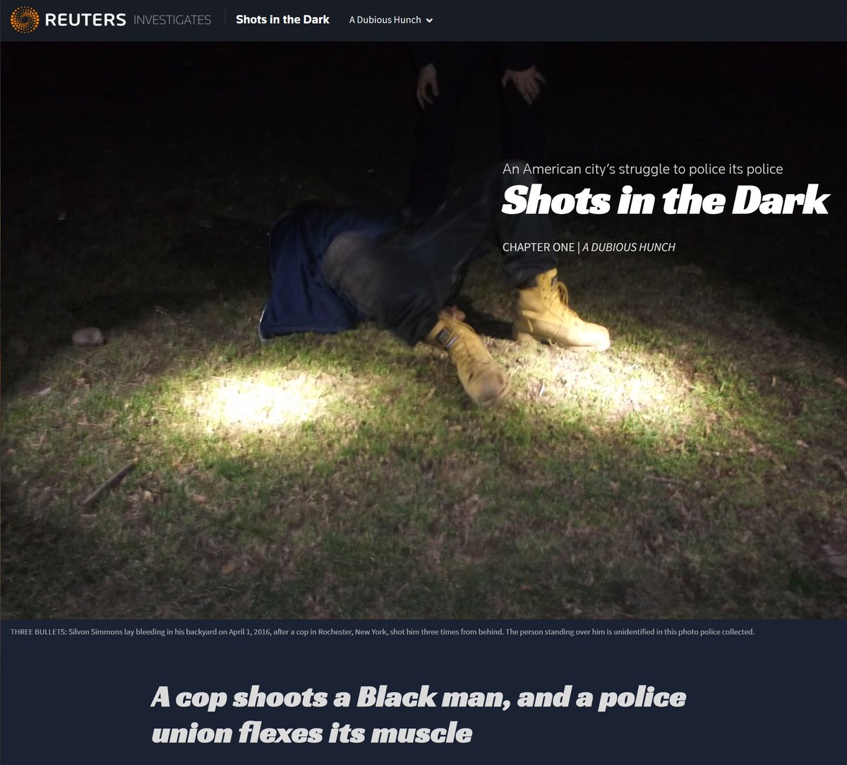 Three bullets, a mystery gun, a Black man shot and a police union – a riveting @Reuters narrative that examines powerful forces and blockades of justice reform  @lisagirion @readelev