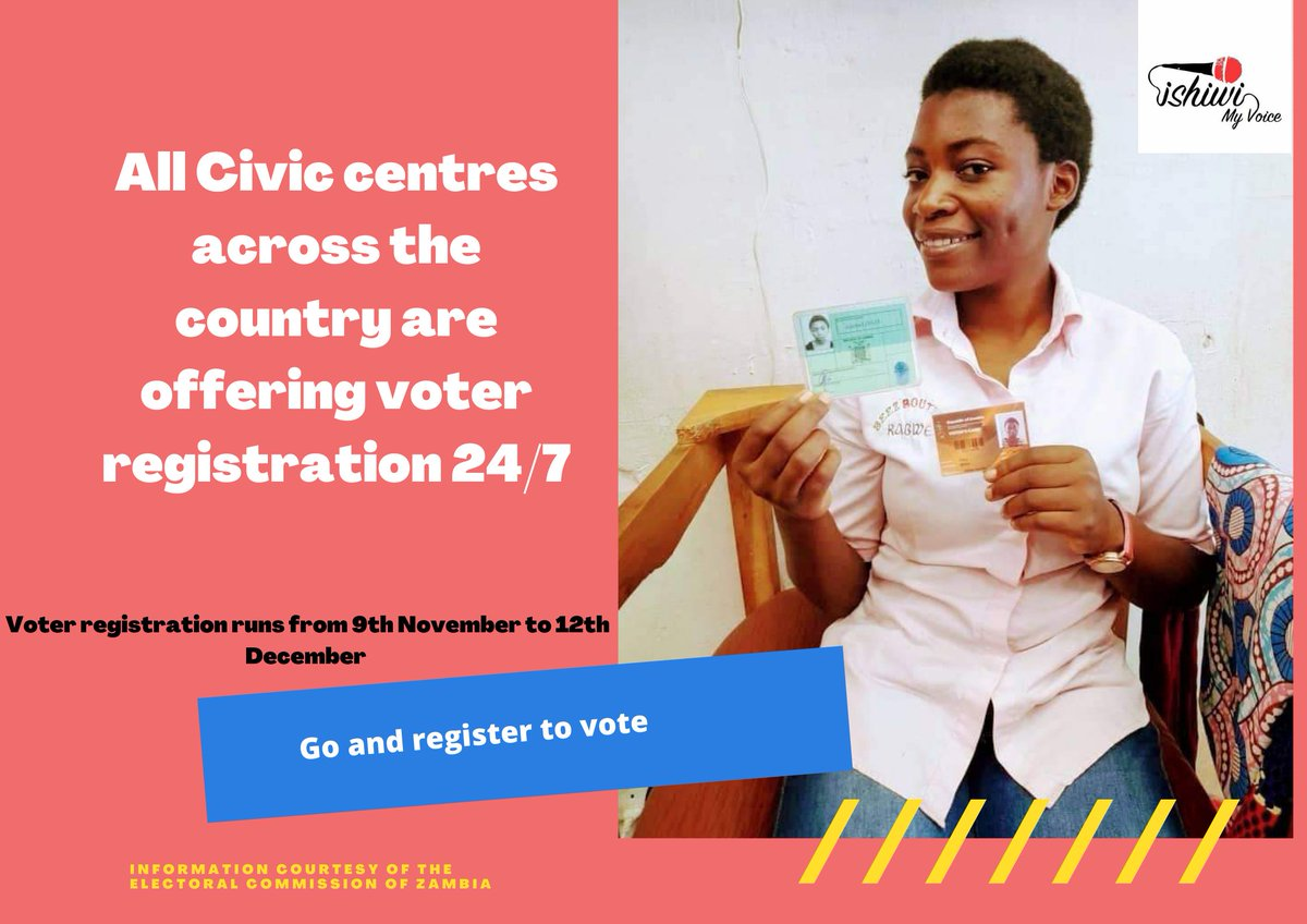 When you register inbox us a cool selfie of you with your NRC and new voter's card 😊😊 #registertovote #votingsquad