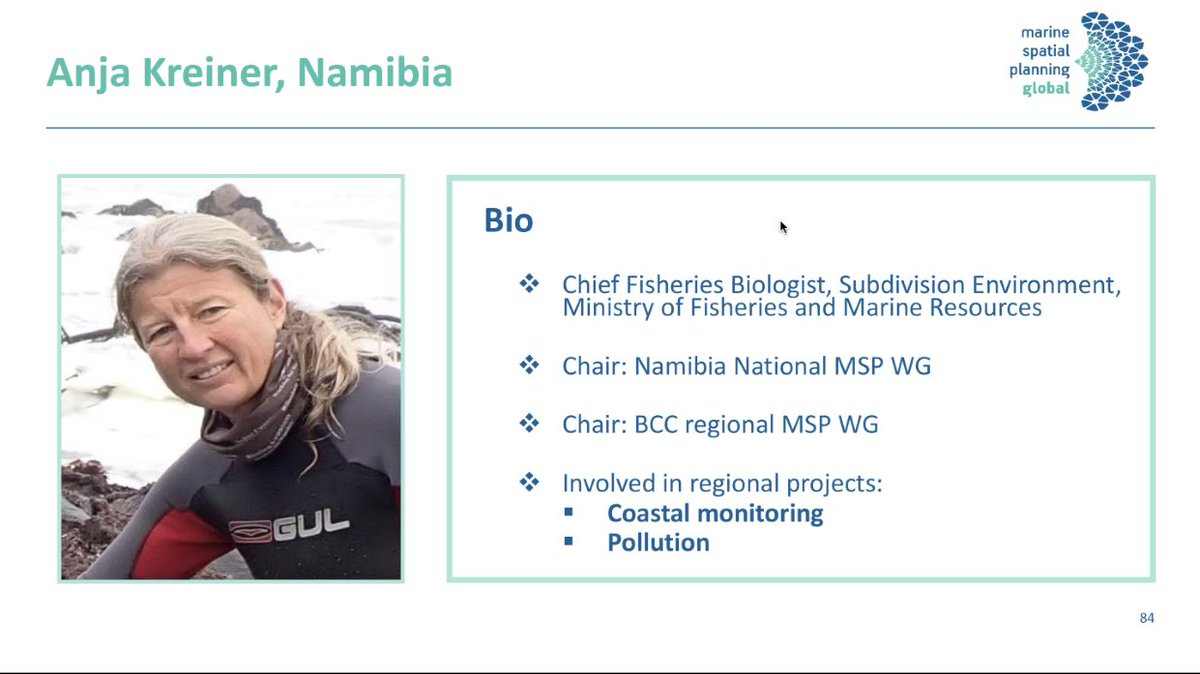 Nii Ankamah On Twitter Our Last Presenter Is Anja Kreiner Chief Fisheries Biologist Subdivision Environment Ministry Of Fisheries And Marine Resources Namibia Presenting On Marine Spatial Planning In The Benguela Current Lme
