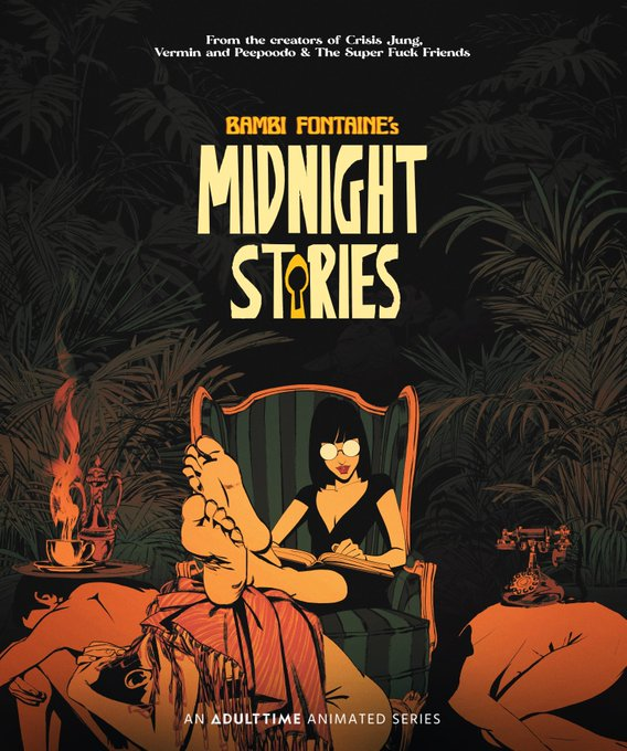 Promo piece for @Bambi_Fontaine_  's Midnight Stories!  A @Bobbypills_  production.  Coming soon to @Adulttimecom