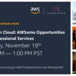 Image for the Tweet beginning: Cloud Girls & the @AWS