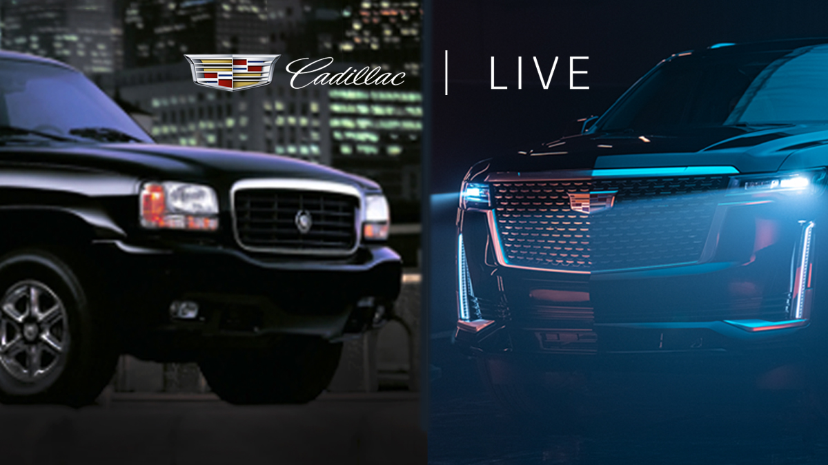 Witness the evolution LIVE from the Cadillac Live studio 11/19 at 7pm EST on Instagram. See a special guest give a walkaround of the original and the next-gen #2021Escalade. #NeverStopArriving