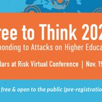 Image for the Tweet beginning: 🗓️HAPPENING THURSDAY: @ScholarsAtRisk virtual conference