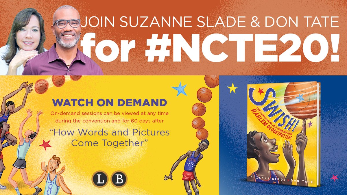 """Hooray, it's #NCTE20 week! Join @Devas_T and I as we share """"How Words and Pictures Come Together"""" in SWISH! (plus our very own basketball bloopers.) 🗑️🏀   #ncte2020 #nonfiction #picturebook @LittleBrownYR"""