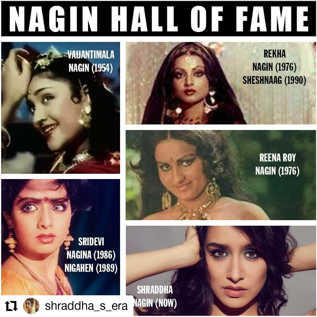 After veteran actresses like Rekha, Sridevi, Reena Roy; It's @ShraddhaKapoor, who'll recreate the enigma of nagin on screen.  #shraddhaasnagin #ShraddhaKapoor