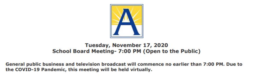 11/17 School Board Meeting agenda posted at <a target='_blank' href='https://t.co/3IGuWIocom'>https://t.co/3IGuWIocom</a>  Watch the meeting live at <a target='_blank' href='https://t.co/NISTaCMKnf'>https://t.co/NISTaCMKnf</a>  F. INFORMATION ITEMS: 1. Barcroft Calendar 2. 2022 School Calendar 3. 2021 Legislative Package 4. Long Branch Elementary School Playground License Agreement <a target='_blank' href='https://t.co/PnieS5TcGs'>https://t.co/PnieS5TcGs</a>
