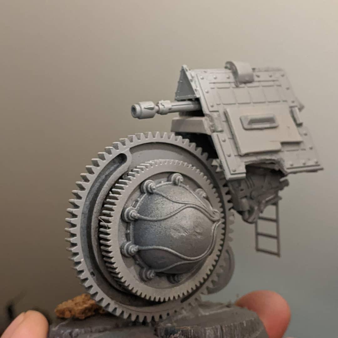 A little tonk .progress. #ratsofnymza #reamelish #rough #concept #warhammercommunity #wargaming #steampunk #Skaven