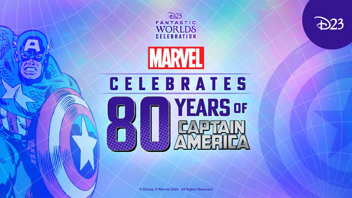 WATCH NOW: Celebrate 80 years of Captain America with  Marvel Comics Editor-in-Chief C.B Cebulski and Executive Editor Tom Brevoort:  #D23FantasticWorlds #AtHomeWithD23