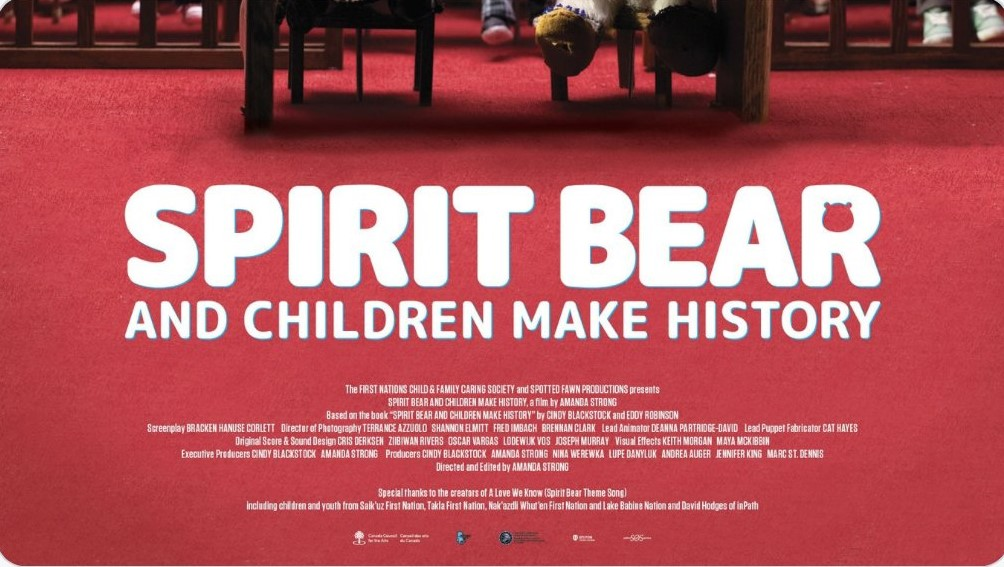 Join the virtual premiere of Spirit Bear and Children Make History. Learn about Jordan's Principle and listen to an interview with @cblackst Tomorrow: November 18 6:30 PM Event Link: bit.ly/3kFAjST twitter.com/CaringSociety/…