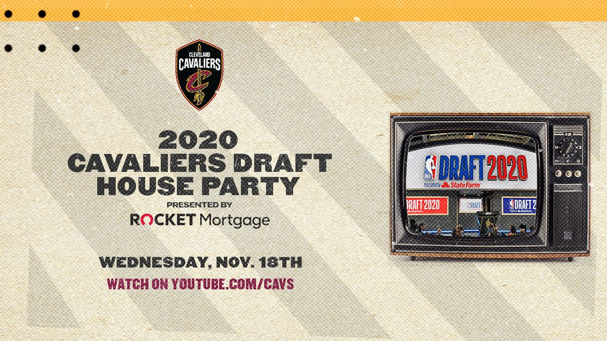 We're officially 24 hours out from our #CavsDraft House Party with @RocketMortgage! 🎉  Tune in before the draft for your chance to win BIG prizes and enjoy conversation with @Mark25Price, @dariusgarland22, @joethomas73, @stipemiocic + MORE!  📺: https://t.co/p5XJmz18Bt https://t.co/pIqJYiEtzw