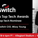 Image for the Tweet beginning: Congratulations to @Switch CIO Missy