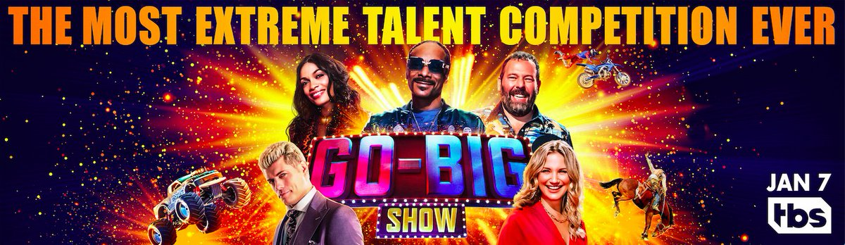 #GoBigShow is going to be on fire🔥. No, really, expect flames! Go-Big Show premieres January 7th on @tbsnetwork. #ItsGoTime