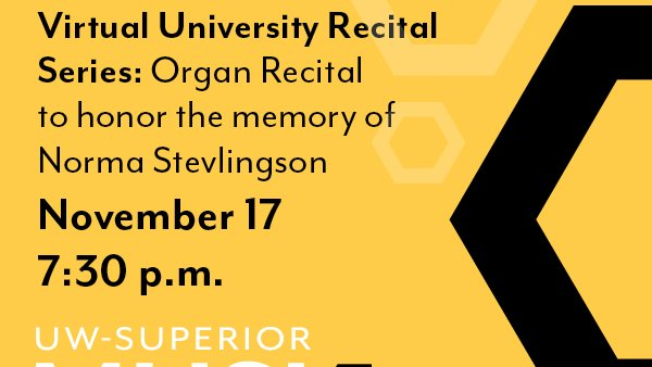 Join us tonight at 7:30 as the UW-Superior Music Department honors the memory of former professor Norma Stevlingson. Register no...