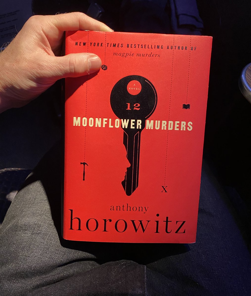 Beyond excited to begin reading the new book by @AnthonyHorowitz, Moonflower Murders. It's predecessor, Magpie Murders, is one of my favorite books ever. Cannn't waaaait. #murdermystery