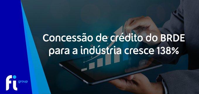 O BRDE concedeu aproximadamente R$227 milhões em crédito para a indústria no período de jane....
