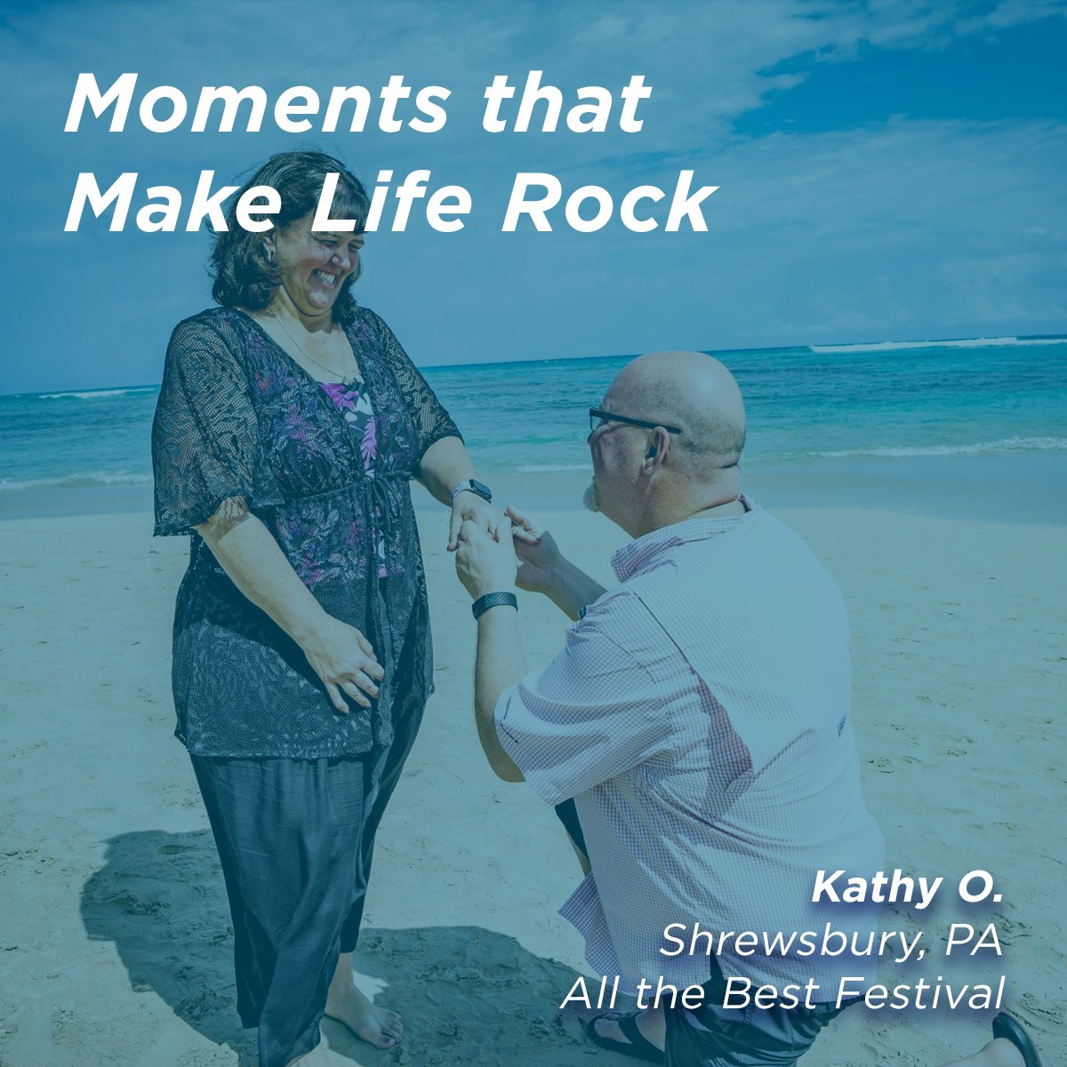 😍At 11:11 a.m. on Monday, 11/11, we got engaged in Punta Cana, D.R. during the week on All The Best Fest. - Kathy O. Read on to learn all about Kathys engagement during our #AllTheBestFest sixthman.net/moments #SXMLiveLoud