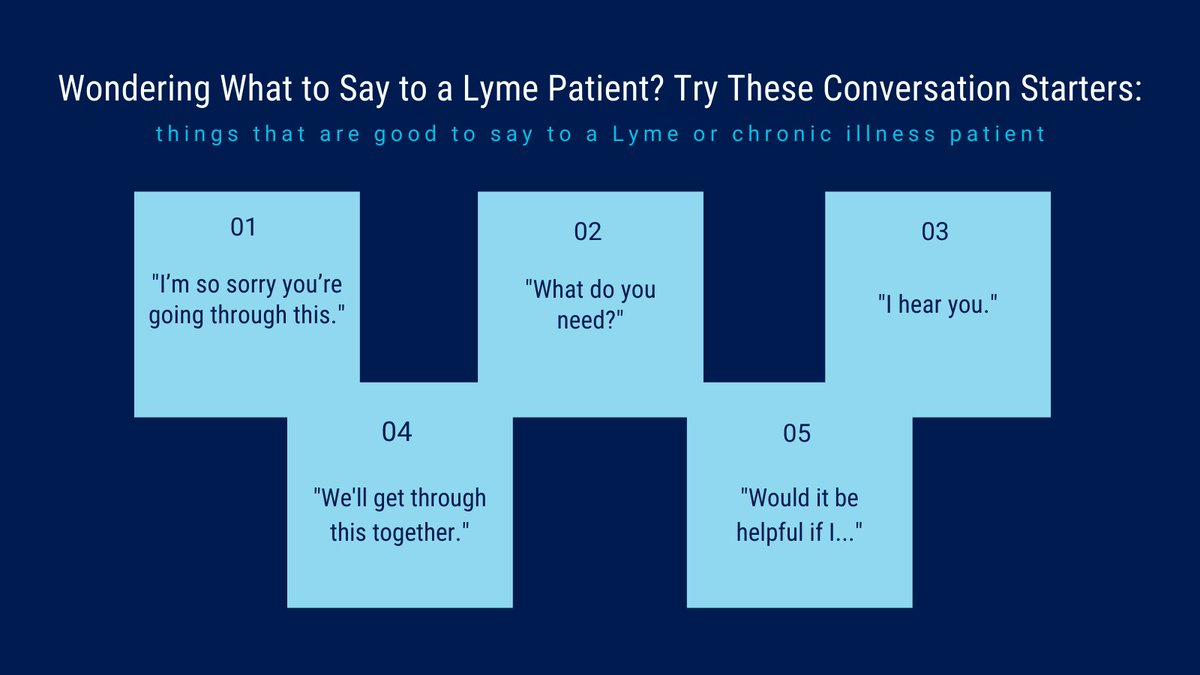 """We may not always know the right things to say, but we can at least try. @writerjcrystal is sharing her list of """"Chronic Illness Bingo"""" squares—things that are good to say to a Lyme or chronic illness patient. To view the full list, click here >>"""