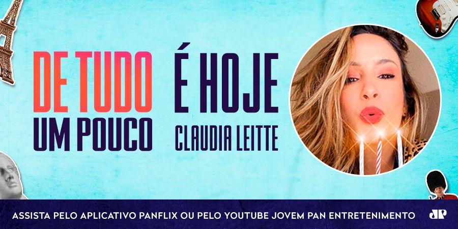 Hoje é dia de #ClaudiaLeitte no 'De Tudo Um Pouco' e você não pode perder!  Assista, ao vivo, às 21h:  | @ClaudiaLeitte