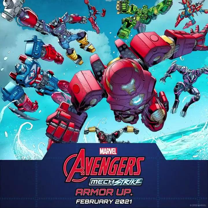 "Mech Strike initiative, activate.   Armor up February 2021 for ""Avengers Mech Strike"" #1!  💥:"