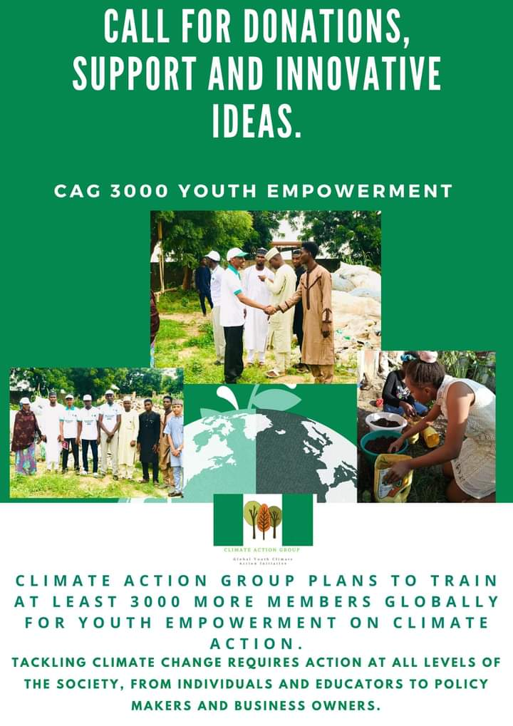 Three CAG Upcoming Laudable Projects   1. Organizing the First Africa Youth Climate Action Summit #AYCAS, the first of its kind in Nigeria, with the hope to receive delegates from more than 100 countries across the globe.  #CAG #UNDay #climatechange #ClimateEmergency #ClimateActi