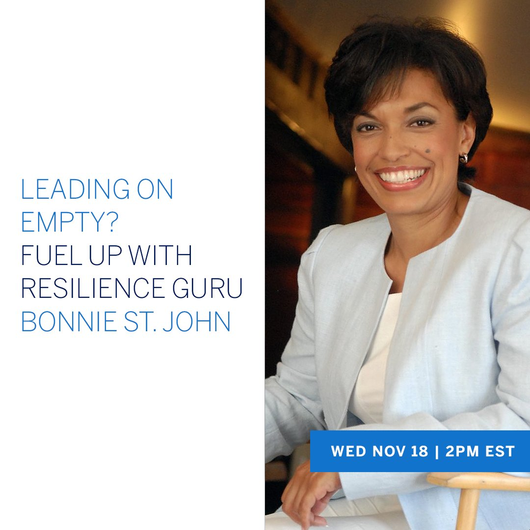 Join us tomorrow (Wednesday, November 18th) at 2pm EST for a special #AmexBusiness Office Hours with Fortune 500 Leadership Expert & Bestselling Author of Micro-Resilience @BonnieStJohn, hosted by @jjramberg, live on LinkedIn: