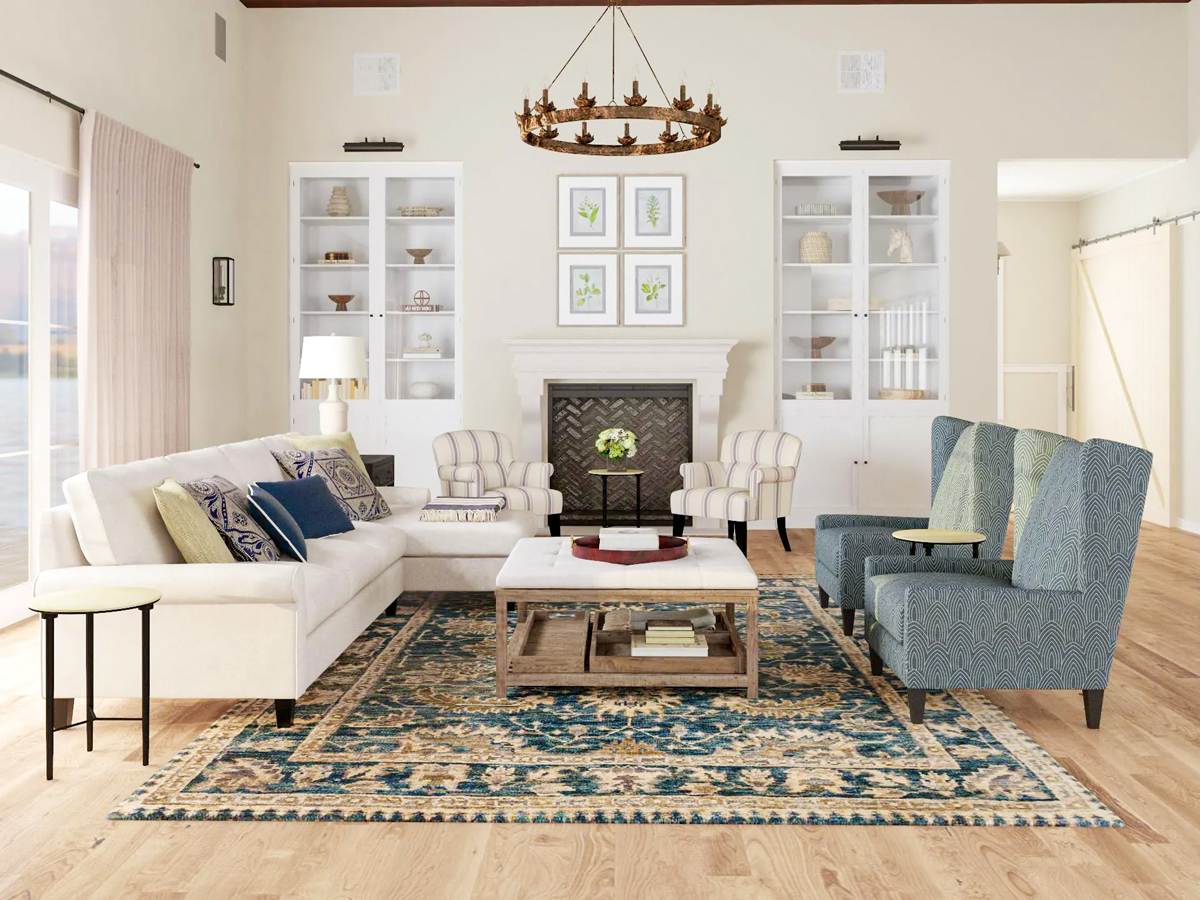 You don't have to use symmetry to create balance in your #interiordesign. #designtrends