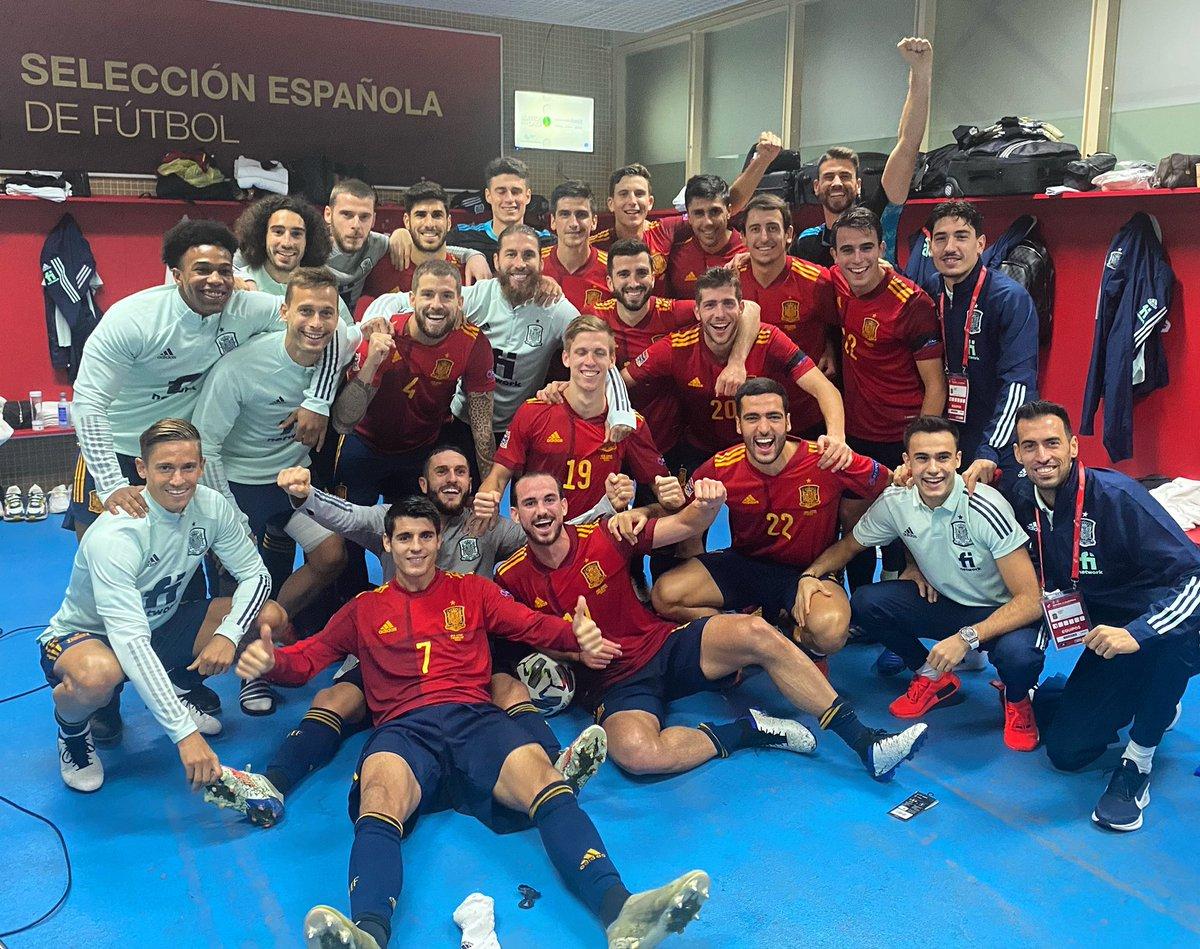 ¡¡Vamos equipo!! Partidazo que nos hace cumplir el objetivo. 🇪🇸 #VamosEspaña