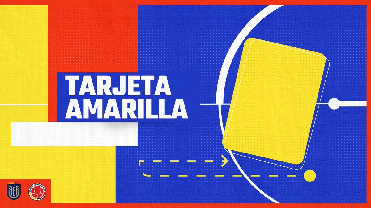 ⏱️ 65'   🟨 Amarilla para Cuadrado  🇪🇨 4⃣-1⃣ 🇨🇴  #VamosColombia 🇨🇴 #ECUCOL
