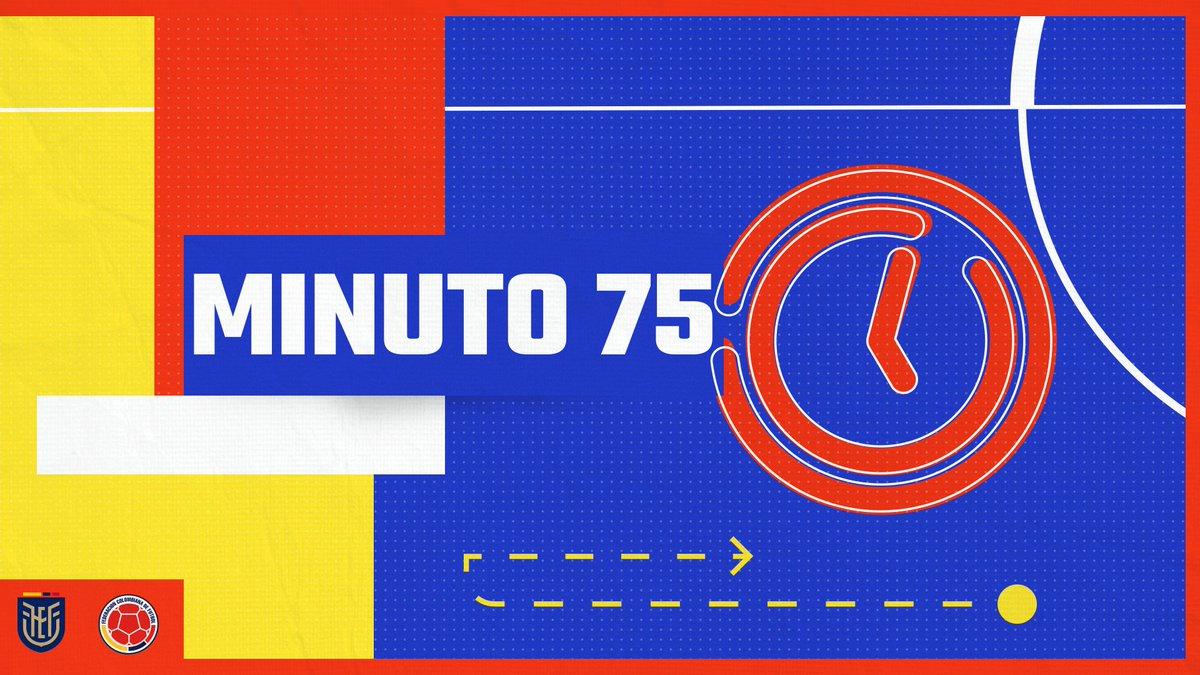 ⏱️ 75'    🇪🇨 4⃣-1⃣ 🇨🇴  #VamosColombia 🇨🇴 #ECUCOL