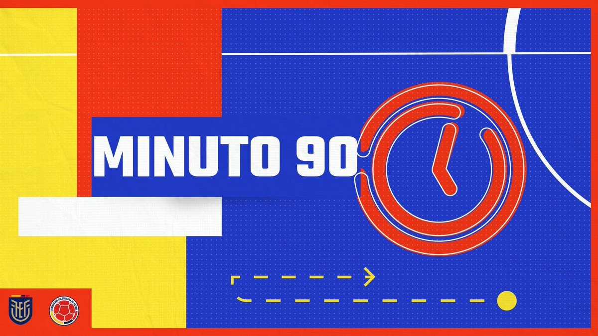 ⏱️ 90'    5⃣ minutos de adición   🇪🇨 5⃣-1⃣ 🇨🇴  #VamosColombia 🇨🇴 #ECUCOL