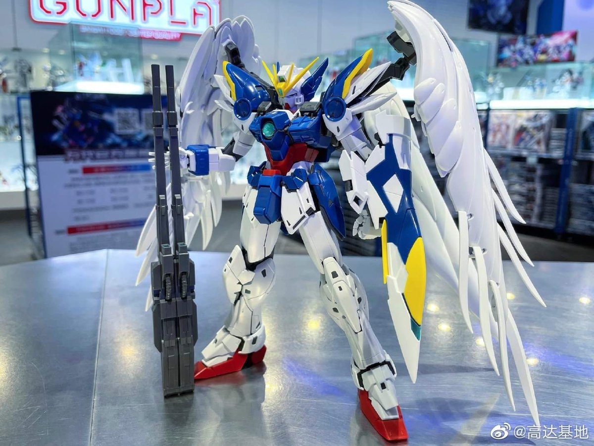 Speedballharo On Twitter Gunpla Gundam Gunplatogether Modelkit Gundamwing Mg Gundamew Gundam Wing Zero Ew Ver Ka Mg New Display With Shield Attached Https T Co G8wjojd0sk