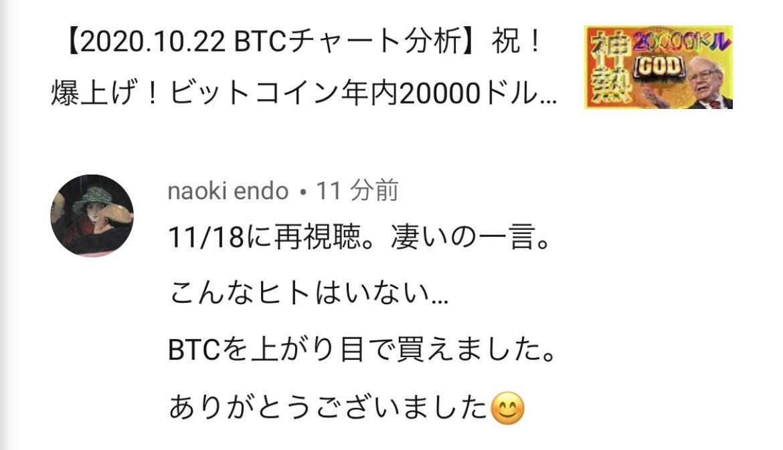 こんなヒトはいない、、、いただきました。【過去動画(2020.10.22)】祝!爆上げ!ビットコイン年内20000ドル到達か!?過去の仮想通貨バブルと比較!