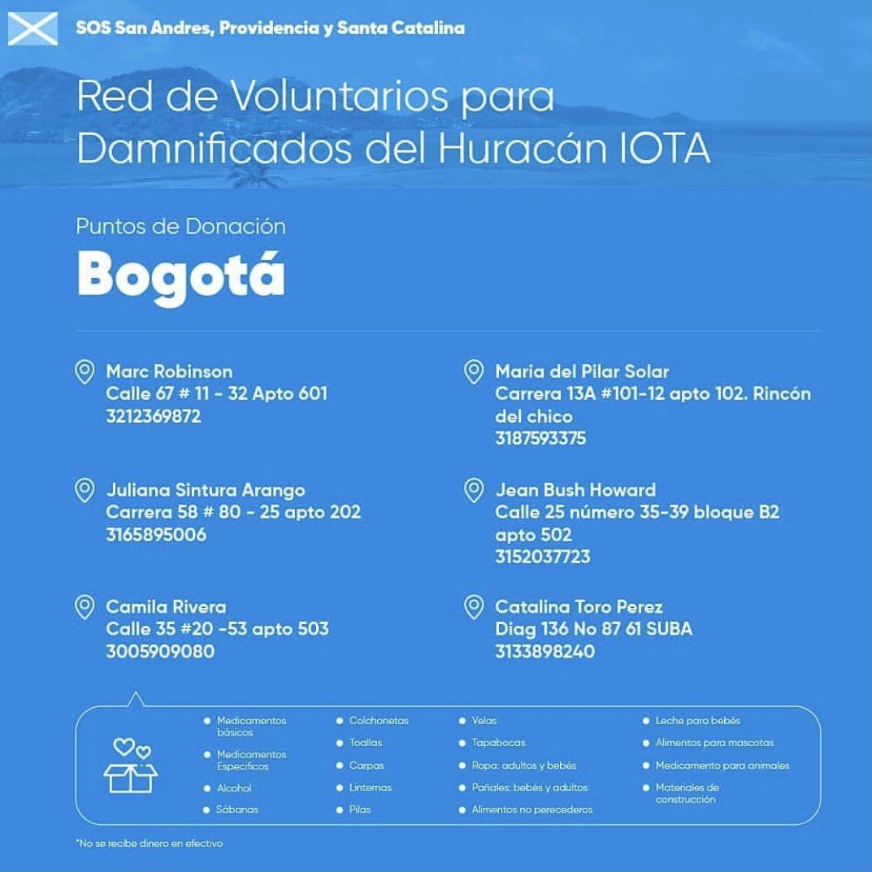 Hoy Colombia nos necesita a todos! El paso del #Huracanlota dejó sin hogar a muchas familias. Les comparto estas imágenes para ayudar con donaciones a estas comunidades 🙏🏻 Gracias a quienes puedan sumarse. #SOSSanAndresyProvidencia #SOSChoco #SOSCartagena