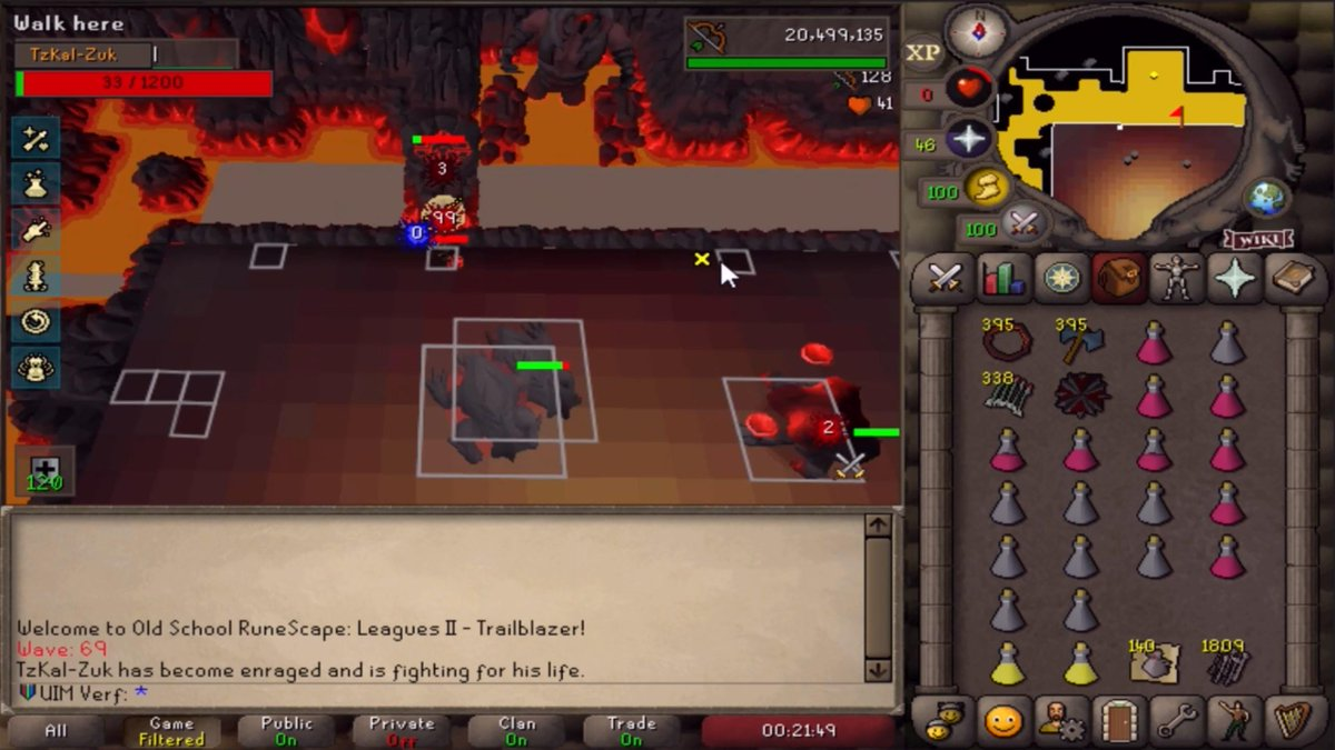 UIM Verf - Cleared the waves and almost finished Zuk in the same run (Karamja setup) but set number 7 cost me the cape because of a silly misstep. This practicing grind is both so hyped and frustrating at the same time..