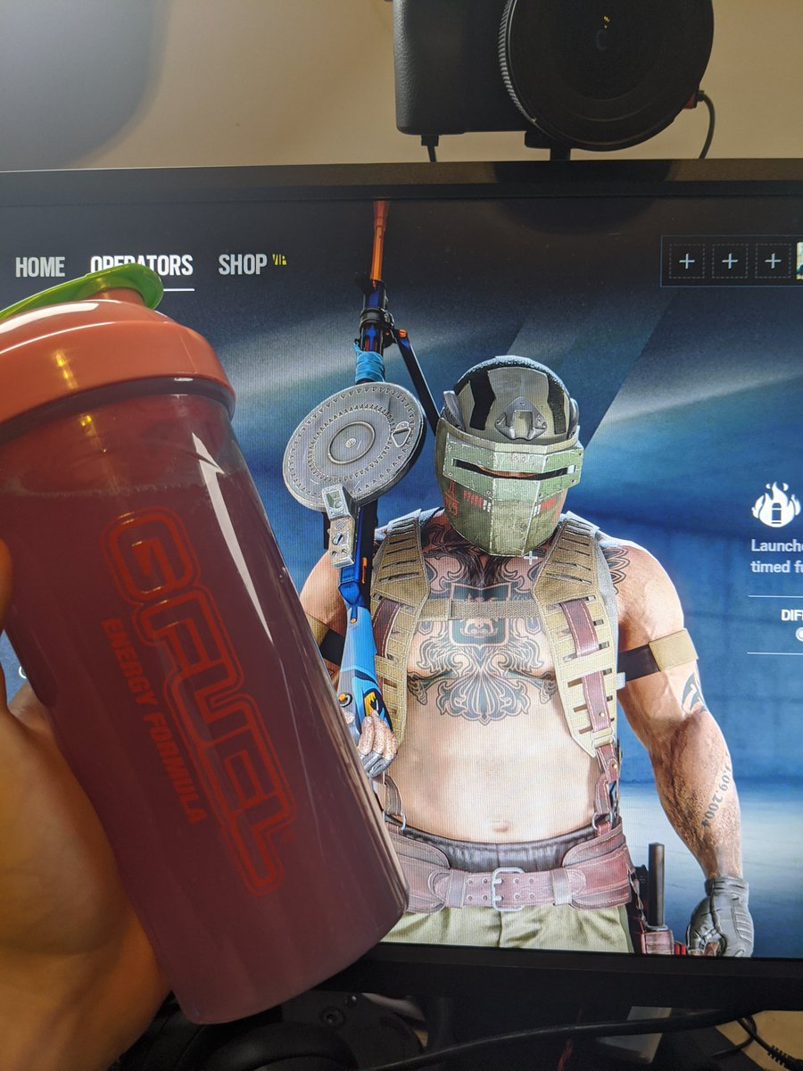 KiXSTAR - Haven't played siege in a long time, but I'm gonna get some in since the new tachanka is out.  Hella rusty, gonna need to employ copious amounts of #gfuel #sponsored   Use code kix  And you can make fun of how washed I am here: