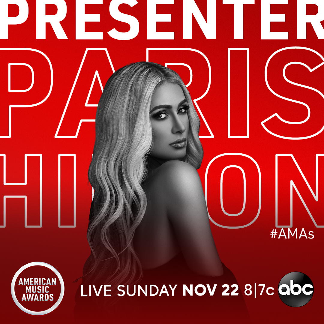 We can't wait to have @ParisHilton presenting at the #AMAs this Sunday at 8/7c on ABC!